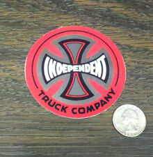 "INDEPENDENT 3"" RED FOIL Skate Board Vinyl Sticker Car Window Decal Trucks Roxy"