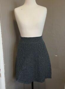 Anthropologie Moth Wool Knit Skirt Sz XS  Blue Warm Winter Weight