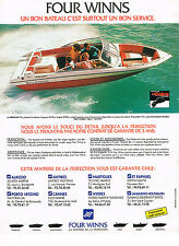 PUBLICITE ADVERTISING 114  1989  FOUR WINNS  bateau FREEDO moteaur OM COBRA