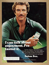 1976 Tom Selleck photo Salem Cigarettes vintage print Ad