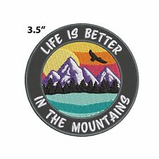New ListingLife Is Better In The Mountains Embroidered Patch Iron-on / Sew-on Applique