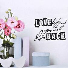 PVC Spruch Wandtattoo Room Decor Sticker Deko,Wallpaper,Design Love life and it