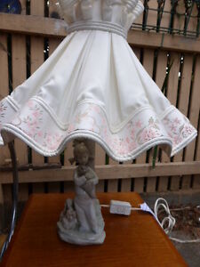 VINTAGE RETRO hand made Spain Table  LIGHT LAMP  figurine