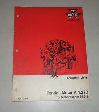 Teilekatalog Perkins-Motor A 4.270 im Massey Ferguson Mähdrescher 685S, 08/1962