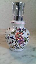 LAMPE BERGER 70er florales Design PI Bagdad en Porcelaine décorée de Fleurs