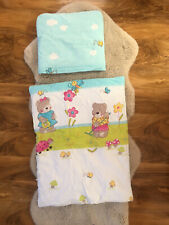 Quilt Duvet And Pillow With Covers For Baby Pram, Moses Basket Crib Cot Blue VGC
