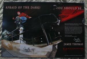 Vintage Afraid of the Dark JAMIE THOMAS Monster Signed Autographed Poster