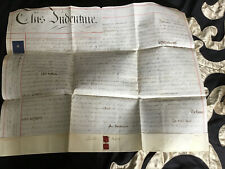 Antique 1854 Hand Written Vellum Indenture Deed EVENLODE Gloucestershire