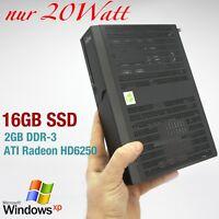 MINI COMPUTER FUJITSU FÜR WINDOWS XP 16GB SSD 2GB DDR3 RS-232  ATI HD6250 QUAKE