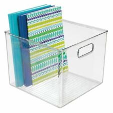 mDesign Plastic Storage Bin with Handles for Home Office - Clear
