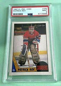 1987-88 O-Pee-Chee #163 Patrick Roy   psa 9 mint.