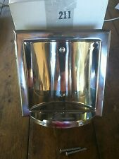 "Stainless Steel Recessed Soap Dish Holder CWECO 211 6.25"" wide 6.25 tall"