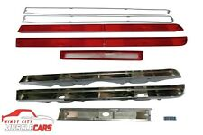 1970 AMC AMX / Javelin Back Up Reverse and Tail Light Bezels and Lenses Set
