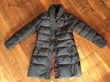 Top Daunen Jacke Mantel Tommy Hilfiger XL 42 Blau Rot Wintermantel Warm