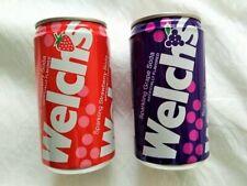 12oz Welch's Sparkling Grape Soda & Sparkling Strawberry Aluminum Soda Pop Cans