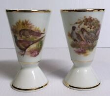 Porcelaine Sologne Exclusivite French Pheasant Game Bird Cup Goblet