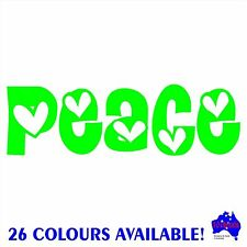 PEACE vinyl sticker wall,window,bathroom,home decor quotes,car,caravan decal.DIY