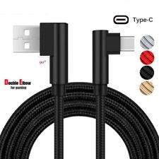 USB cargador rápido-C TIPO C ángulo 90 ° Data Sync Carga Cable Para Samsung S10+/e