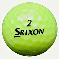 50 Srixon TriSpeed Tour Gelb Golfbälle im Netzbeutel AAAA Lakeballs yellow Golf