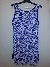 Alfani Intimates Sleepwear Lingerie Blue White Spandex L Large AGAN
