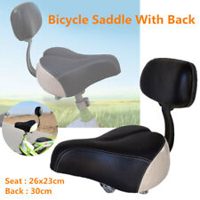 Wide Comfortable Tricycle Mountain Bike Electric Bicycle Saddle Seat w/Back Rest