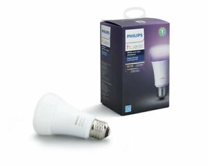 Philips Hue White and Color Ambiance A19 Smart Light Bulb, 60W LED, 1-Pack