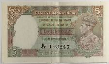 India Nd (1943) P-18b.Xf Epq. 5 Rupees (Sign. Desmukh)
