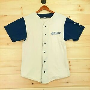 Abbott and Costello Whos on First 2 What Baseball Jersey Mens Medium Beige Blue*