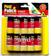 10 Pack Insect Catchers Killer Tape Strip Pest Bug Wasp Window Fly Greenhouse