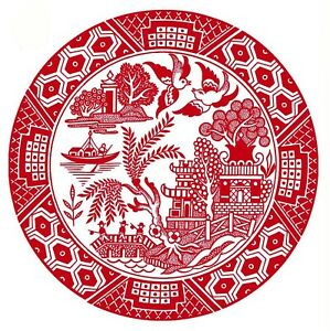 Red Willow Oriental Flower Scene Select-A-Size Ceramic Waterslide Decals Bx