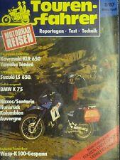 Touren Fahrer Motorrad Reisen 2/87 1987, Wasp K 100 Gespann, Suz.VS 1400, LS 650