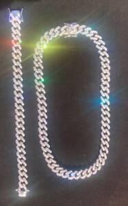Iced out 10mm Cuban link Bundle 18k Gold plated (Necklace& Bracelet) VVS Quality