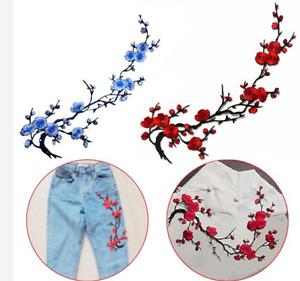 Blau Aufnäher Aufbügler Applikation Blumen Adler Stickerei Bügelflicken wählbar