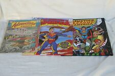1 DC COMIC #243 ADVENTURE COMIC & 2 COMIC BOOK COVER SCHOOL FOLDERS. GOOD COND.