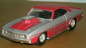 1/32 Scale 1969 Chevy Camaro Z/28 L78 Hot Rod Diecast Drag Car - TootsieToy 3281