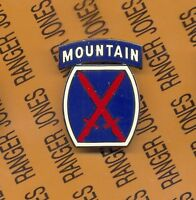 US Army 10th Mountain Division Combat Service Identification Badge CSIB