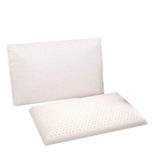 Slim Sleeper - Natural Latex Foam Pillow, Thin, Ventilated, Low Profile, Anti x