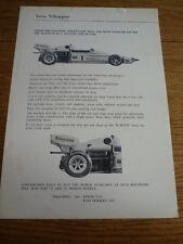 VERN schppan Racing, marzo 722 altri KIT brochure auto da corsa