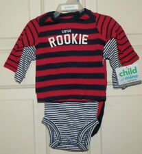 New Baby Boys 0-3 Months 3 Piece Outfit Set Little Rookie Shirt Creeper Pants