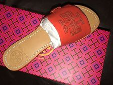 TORY BURCH MELINDA SLIDE SANDALS POPPY RED SIZE 8 NEW IN BOX SOLD OUT!