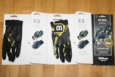 Wilson Racquetball Gloves Sting Black/Yellow Color 3-Glove Right Medium