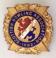 Scottish Bowling Association Club Badge Pin Rare Vintage (M15)