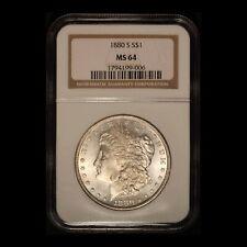 1880-S $1 Morgan Silver Dollar NGC MS64 - Free Shipping USA