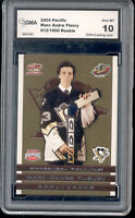 2003-04 Marc Andre Fleury Pacific Rookie  Gem Mint 10 #ed to 1500