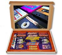 Retro Tapes Music Cassette 24 Bar Cadbury Chocolate Hamper Personalised Gift Box
