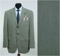 SIZE L Large, UK 42 Long Mens Check Jacket KAPPAHL Light Grey Casual Blazer