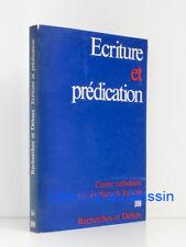 Ecriture et prédication Collectif 1976