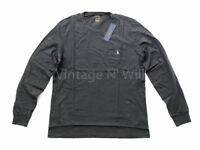 Polo Ralph Lauren Mens L Dark Gray Custom Slim Fit Pony Logo Pocket Crew T-Shirt