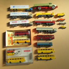 Lot of Vintage small Wiking & 2 Arnold plastic buses cars & Trucks