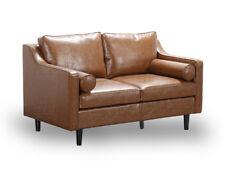 2 Seater Sofa 2018 New Design Scandinavian Retro Style Tan Premium Quality PU